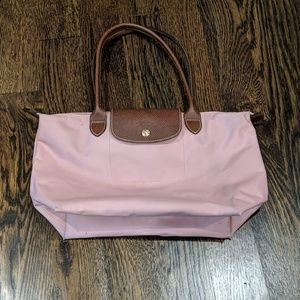Longchamp Pink Tote Bag Small Size